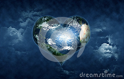 Earth Shaped Heart Stock Images  Image 25844274