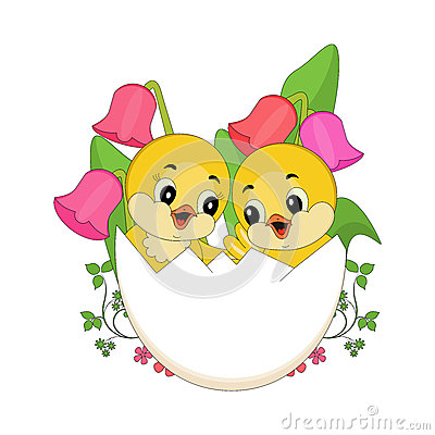 Easter Chicks in egg