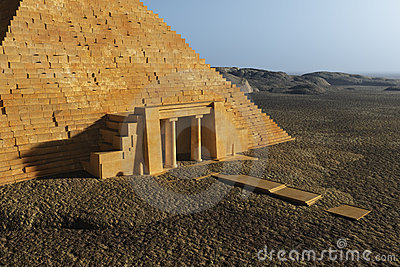 Egyptian Pyramid Entrance Stock Photo Image 21868030