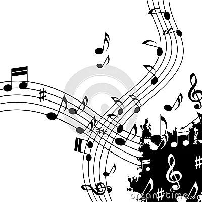 El Fondo Blanco De La Música Muestra A Jazz And Tune