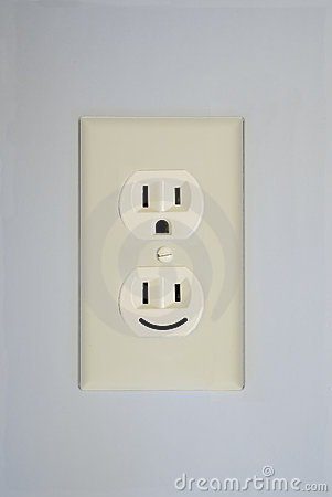 3d Electrical Plan Electrical Outlet Smiley Face Stock Photography Image