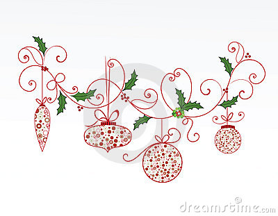 elegant christmas flourish