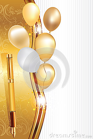Elegant Light Brown Celebration Background With Balloons