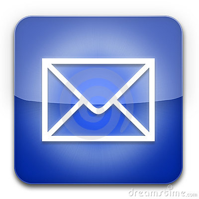 EMail Icon Blue Stock Photography  Image 17264692