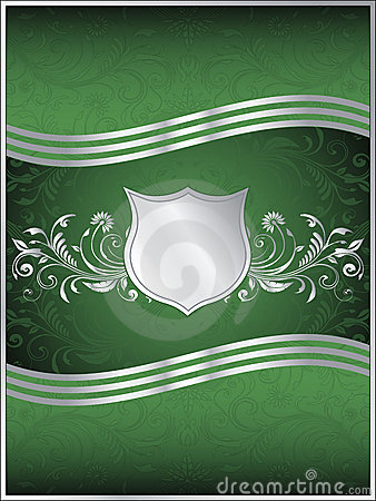 Emerald Green Vector Background Template Royalty Free