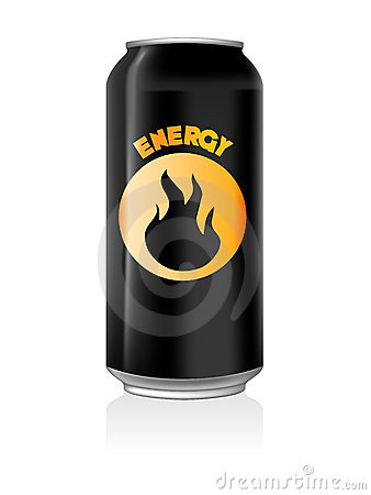 Energy Drink Can Royalty Free Stock Photo - Image: 10573205