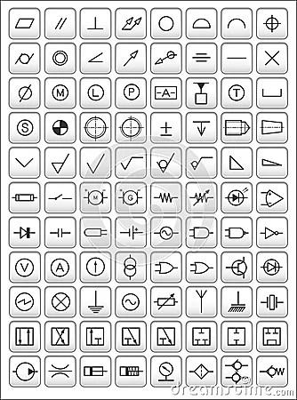 Engineering Symbols Royalty Free Stock Images  Image