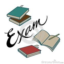 Exam Books Cartoon Vector CartoonDealer com #32836671