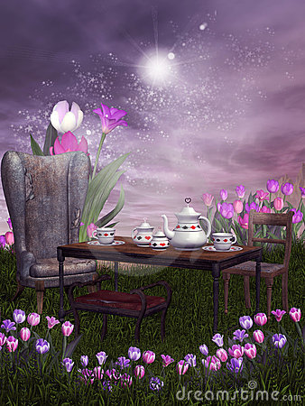 Fantasy Tea Party Stock Images  Image 13716834