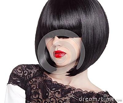 Fashion Bob Haircut Hairstyle Long Fringe Short Hair