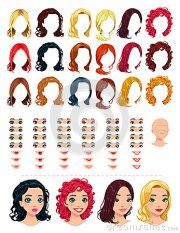 fashion female avatars. royalty