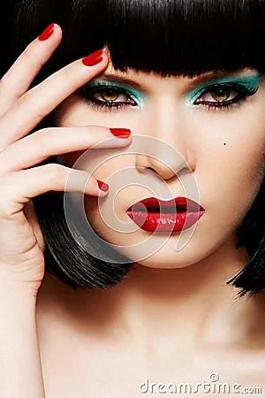 Fashion Model Christmas Glitter Makeup Manicure Royalty
