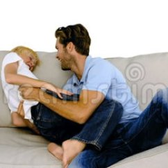 Motion Sofa Definition Wooden Set Hd Images Father Tickling His Son On The White Background ...