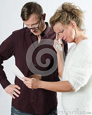 Female Employee Is Unable To Work Stock Photo - Image ...