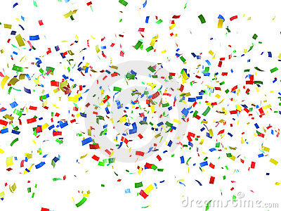 Festive Background Of Confetti Royalty Free Stock