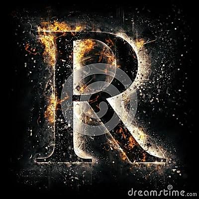 R Letter 3d Wallpaper Fire Letter R Stock Illustration Image 50682115