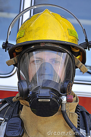 Firefighter In Air Mask Royalty Free Stock Images  Image 8472589
