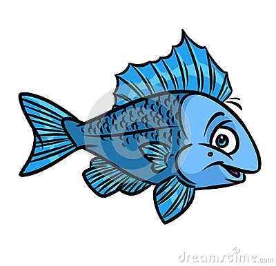 Cute Striped Wallpaper Background Fish Blue Cartoon Stock Illustration Image 70005421
