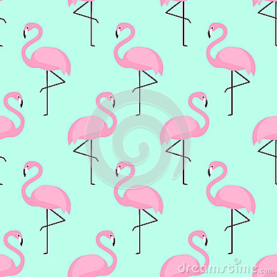 The Mentalist Quotes Wallpaper Flamingo Seamless Pattern On Mint Green Background Stock