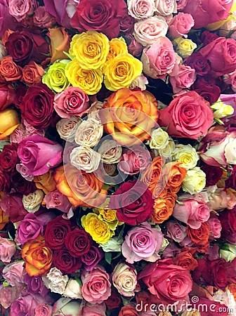 Pink Car Hd Wallpaper Flower Power Stock Photo Image 52204326