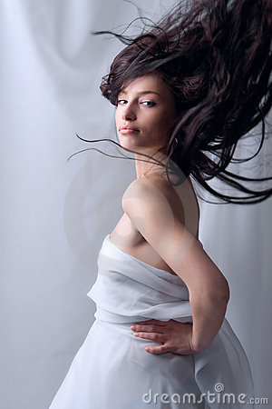 flying hair stock photography image