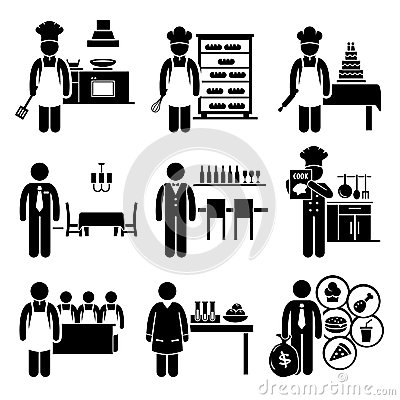 Food Culinary Jobs Occupations Careers Royalty Free Stock