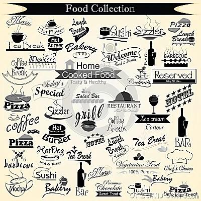 Food Menu Calligraphy Royalty Free Stock Image Image