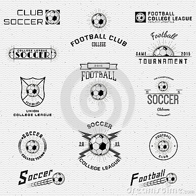 Football, Soccer Badges Logos And Labels For Any Stock