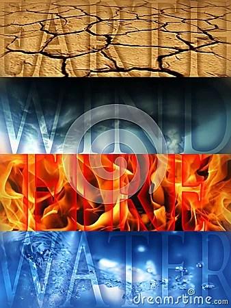 Four Elements Royalty Free Stock Photo Image 15635805