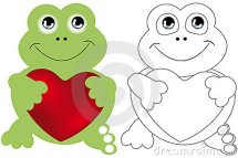 Stock Image Frog in love coloring page Image 21378131
