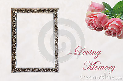 Funeral Eulogy Card Royalty Free Stock Photography  Image 34709417