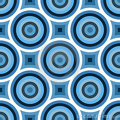 Funky Blue Circles Pattern Stock Images Image 17736714