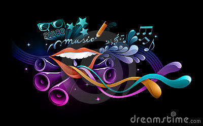 Www Girl Cartoon Wallpaper Com Funky Music Illustration Stock Photo Image 15953880