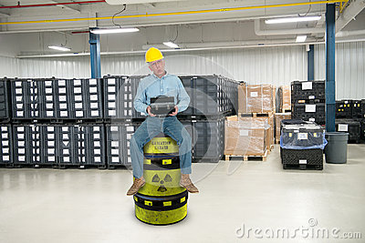 Funny Industrial Worker Job Training Stock Photo Image