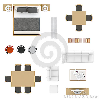 Furniture Top View Stock Illustration Image 73819771