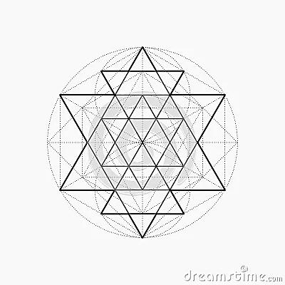 Geometric Shapes, Line Design, Triangle Stock Vector