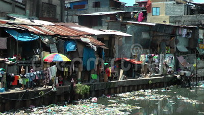 Ghetto In The Muslim District In Manila  Philippines Stock Footage  Video 37182714