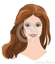 girl with long brown hair