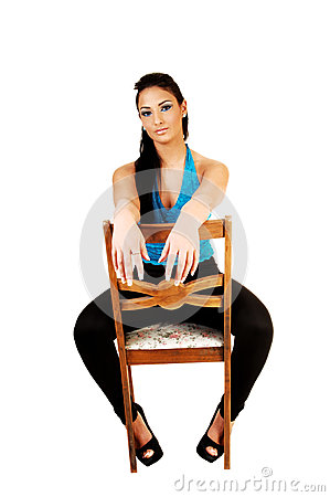 Girl Sitting On Chair Royalty Free Stock Photos  Image