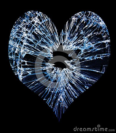 Glass break heart
