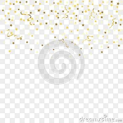 Falling Glitter Wallpaper Gold Confetti Background Stock Vector Image 78448040