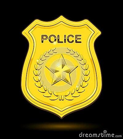 Gold Police Badge Stock Photos  Image 31952873