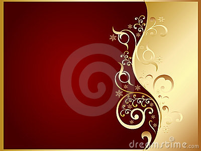 Gold And Red Invitation Card Stock Image Image 11639861