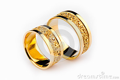 Gold Wedding Rings Royalty Free Stock Image Image 26636056