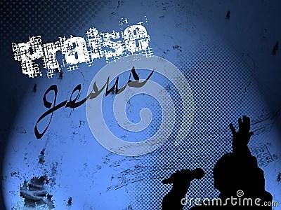 Grunge Praise Jesus Background Stock Images Image 8455244