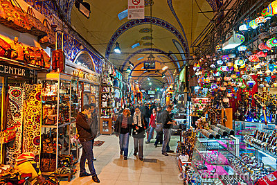 Grand Bazaar Shops In Istanbul. Stock Photography - Image: 18158992