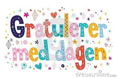 Gratulerer Med Dagen Happy Birthday In Norwegian Stock