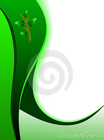 Green Abstract Business Card Background Royalty Free Stock