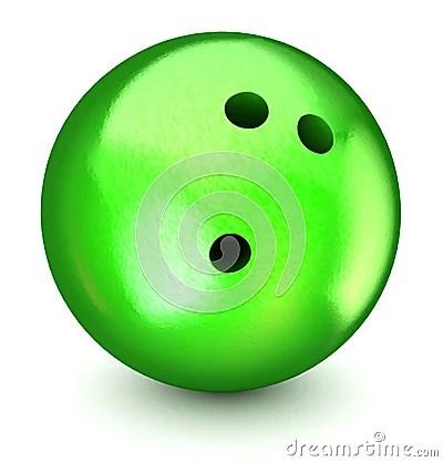 Green Bowling Ball Royalty Free Stock Photography Image