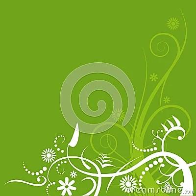 Green Flourish Background Royalty Free Stock Photos